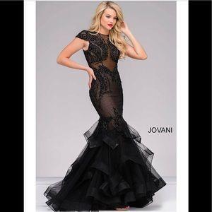 ‼️NWT Jovani 26947 Nude Mermaid Dress 8‼️